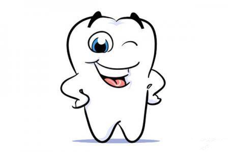 爱牙日-卡通牙齿形象简笔画图片