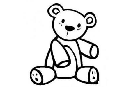 生活用品简笔画 玩具泰迪熊简笔画图片