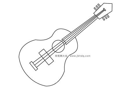 儿童简笔画吉他
