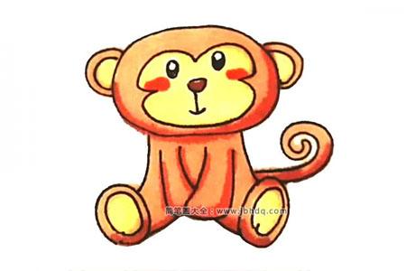 学画可爱的猴子