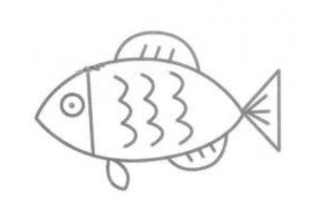 鱼简笔画图片