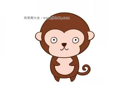可爱的黑黑的小猴子