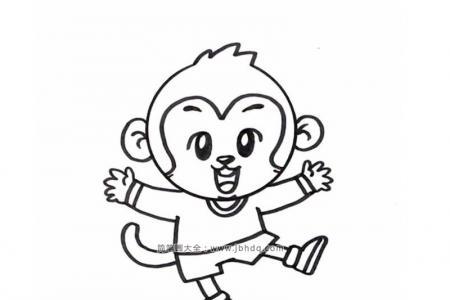开心的小猴子