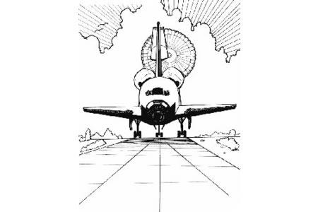 航天飞机简笔画图片