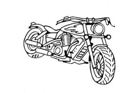 摩托车简笔画 美式摩托简笔画图片