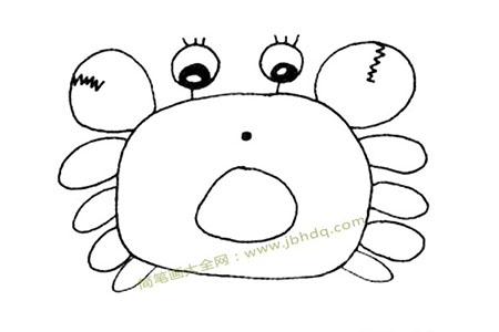 吃惊的螃蟹简笔画图片