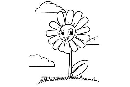 可爱的卡通向日葵简笔画图片