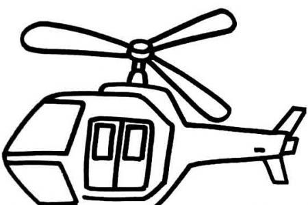 卡通客机、战斗机、直升飞机简笔画