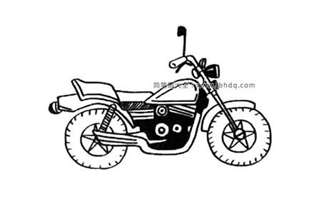 漂亮的摩托车简笔画