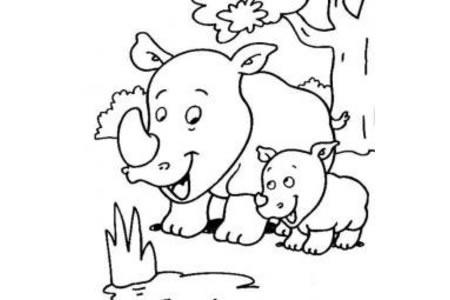 犀牛简笔画