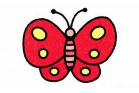 简笔画蝴蝶的画法