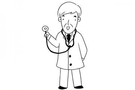 拿着听筒的医生