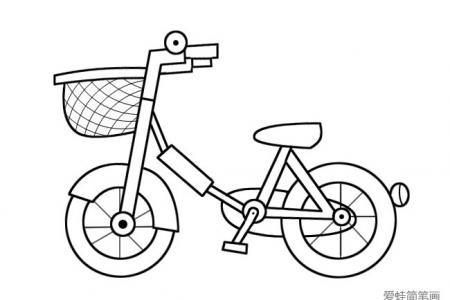 简单的儿童自行车简笔画