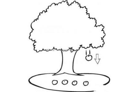 苹果树简笔画图片