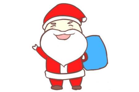 简单的圣诞老人简笔画教程