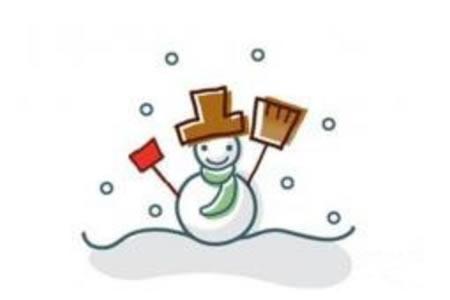 雪人的绘画分解步骤