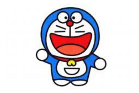 开心的哆啦A梦简笔画图片
