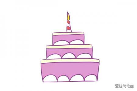 漂亮的紫色蛋糕