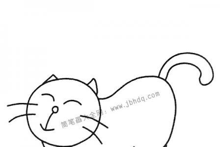 悠闲的小猫简笔画图片