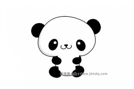 七步画出可爱的大熊猫