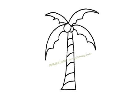 儿童简笔画大全 椰子树简笔画图片