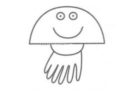 水母简笔画图片