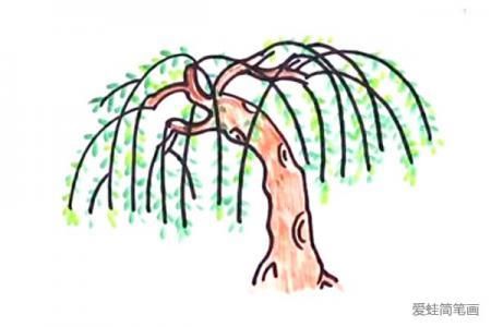柳树简笔画怎么画