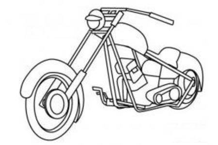 小绵羊摩托车简笔画