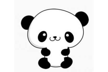 简单的熊猫简笔画画法