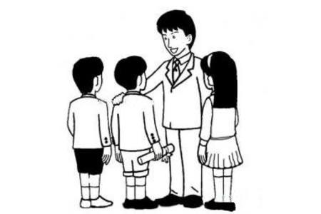 老师和学生简笔画图片