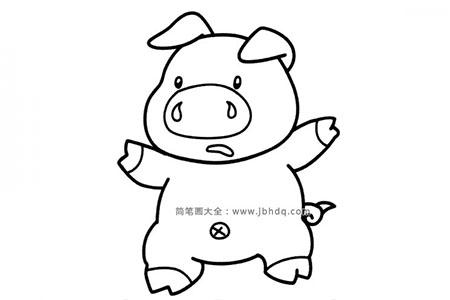害怕的小猪