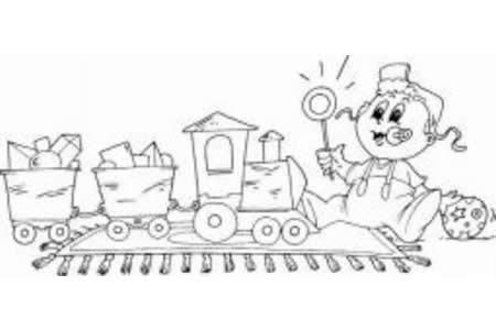 玩具火车简笔画