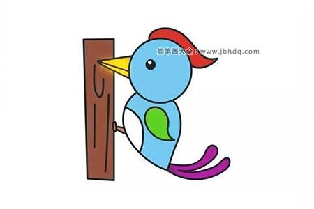 啄木鸟的简单画法