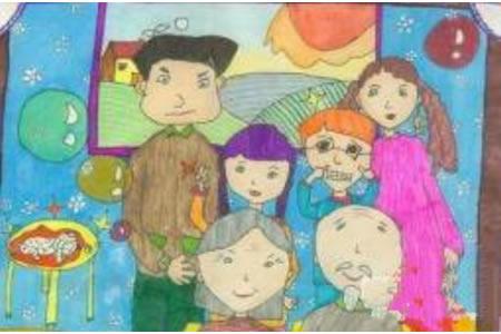 儿童画我的全家福