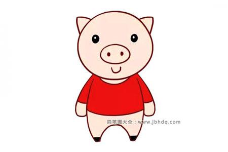 白白胖胖的卡通小猪