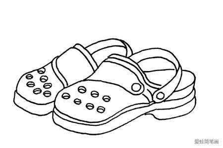 鞋子的线描简笔画