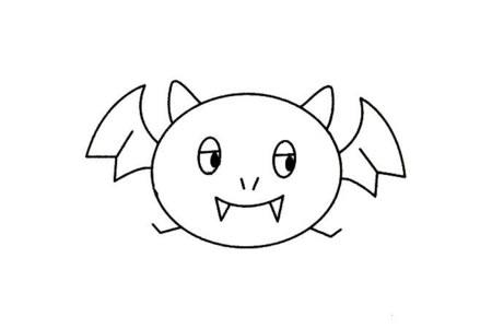 蝙蝠简笔画大全及画法步骤