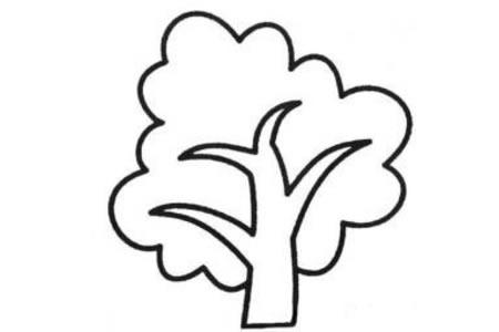 秋树简笔画