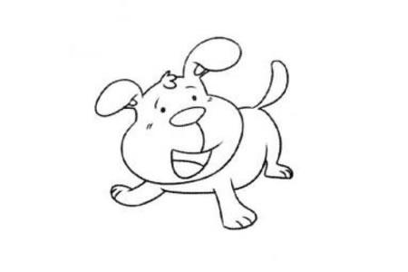 简单的小狗简笔画