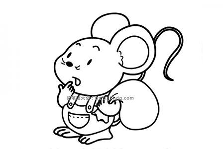背着包裹的小老鼠