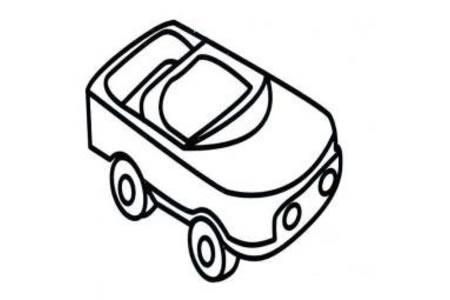 玩具小汽车的简易画法