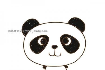 可爱的大头大熊猫简笔画图片