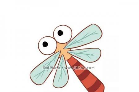 三张漂亮的卡通蜻蜓