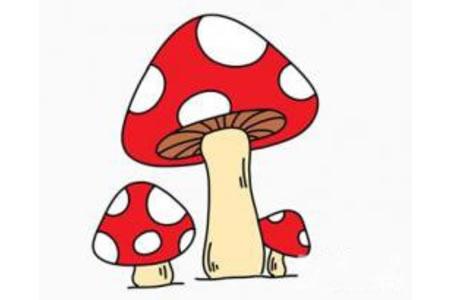 小蘑菇简笔画画法