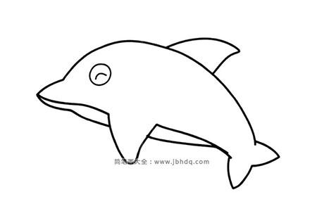简单的海豚简笔画