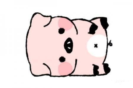 倒在地上的小猪怎么画