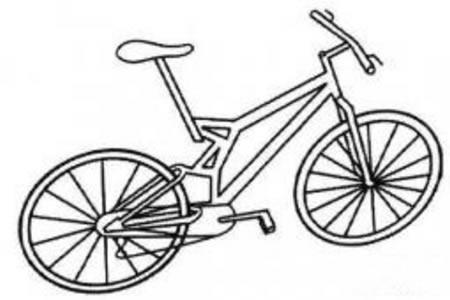 交通工具简笔画 自行车简笔画图片