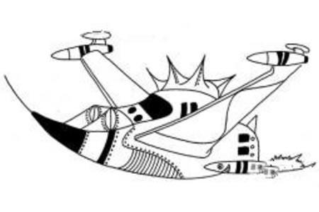 有关宇宙飞船的简笔画
