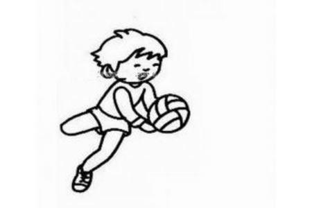 打排球的小男孩