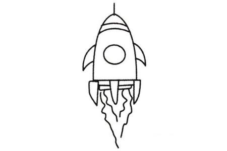 火箭简笔画大全及画法步骤